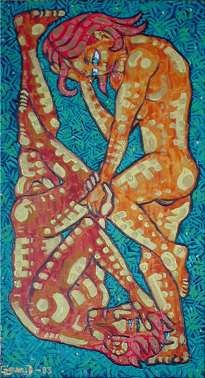 pause symbiotique - alexandre girard - peinture