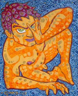 peinture série pause symbiotique - Alexandre Girard