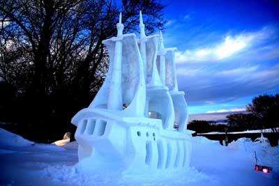 sculpture sur neige, alexandre girard